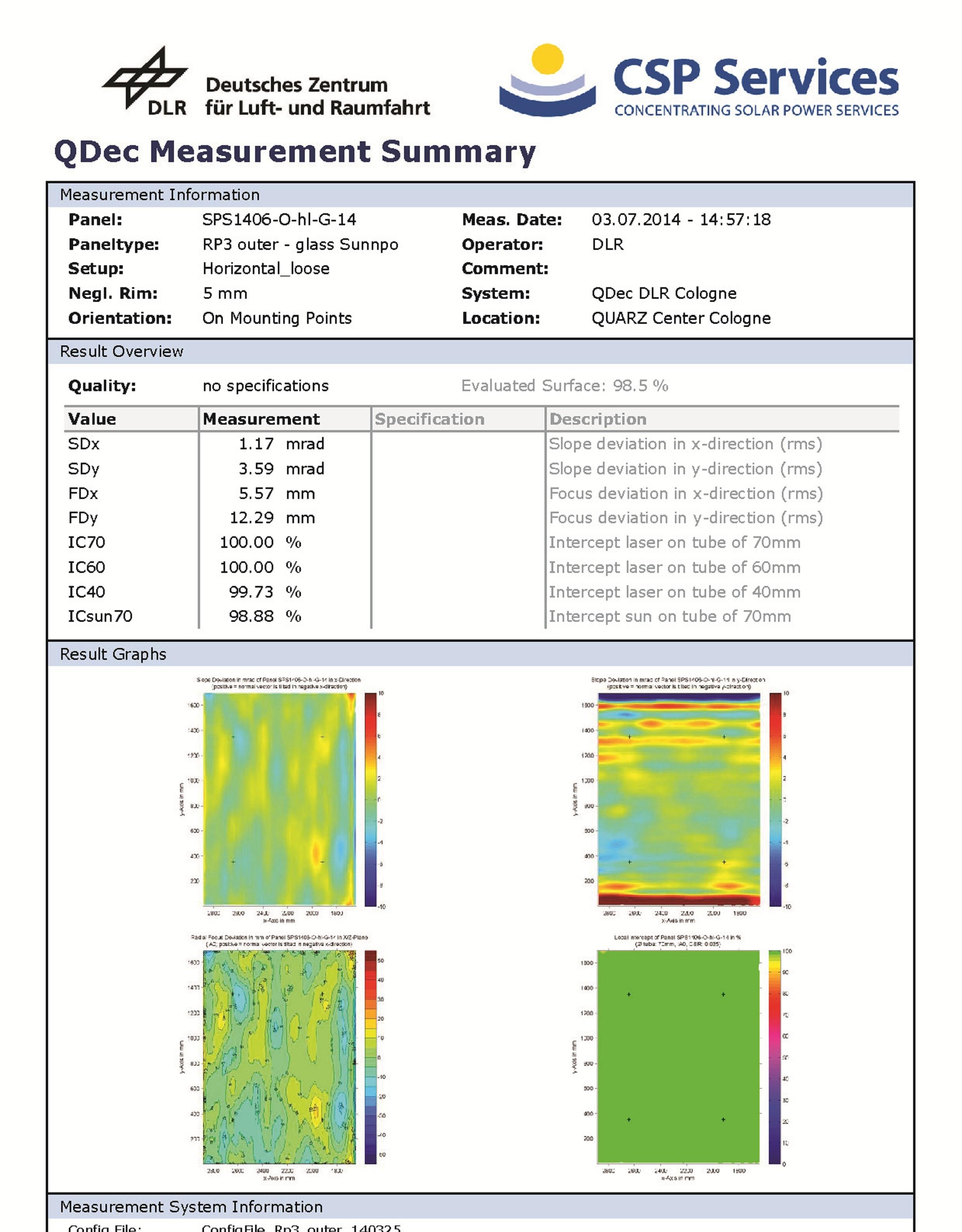 DLR 测试报告--RP3外片